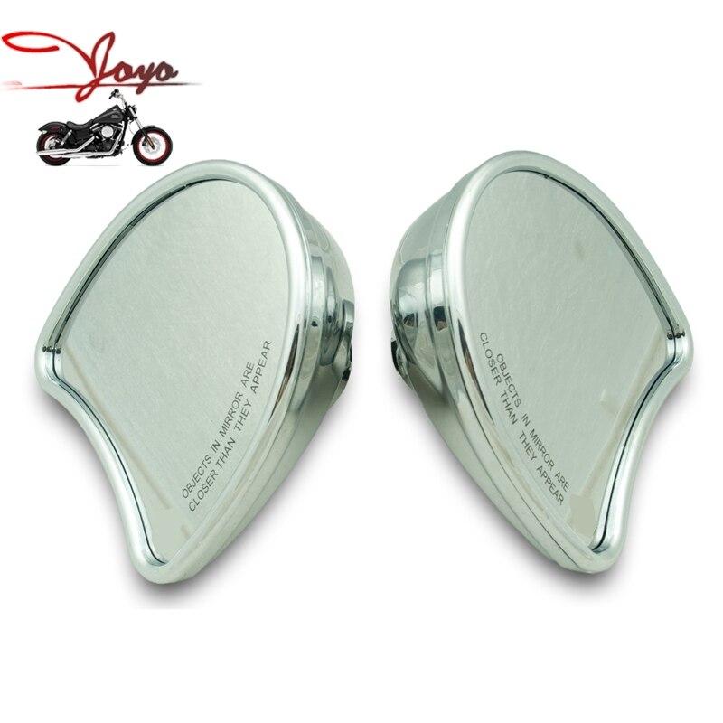 Rétroviseurs de carénage d'aile de chauve-souris de moto Chrome pour Harley FLHT Electra Street Glide Ultra 1996-2013