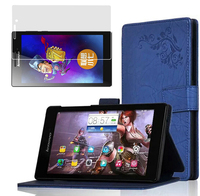 Fashion Print Leather Skin Luxury Folio Stand Case Cover 1x Clear Screen Protector For Lenovo Tab