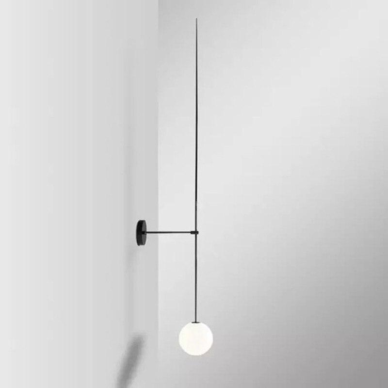 Nordic Minimalist LED Wall Lamp Fashion Glass Ball Bathroom Mirror Besdside American Retro Wall Light Sconce