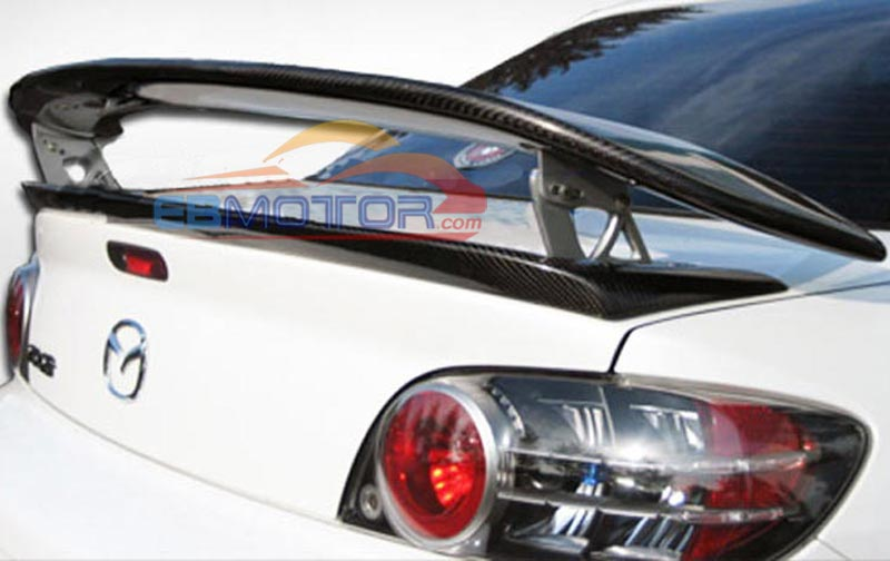 Real Carbon Fiber Mspeed Gt Sport Rear Wing Trunk Spoiler 1pair With
