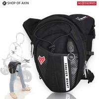 Motorcycle Driver Waist Pack Fanny Pack Leg Double Belt Adjustable Weather Resistant Pockets Purse Easy Carry
