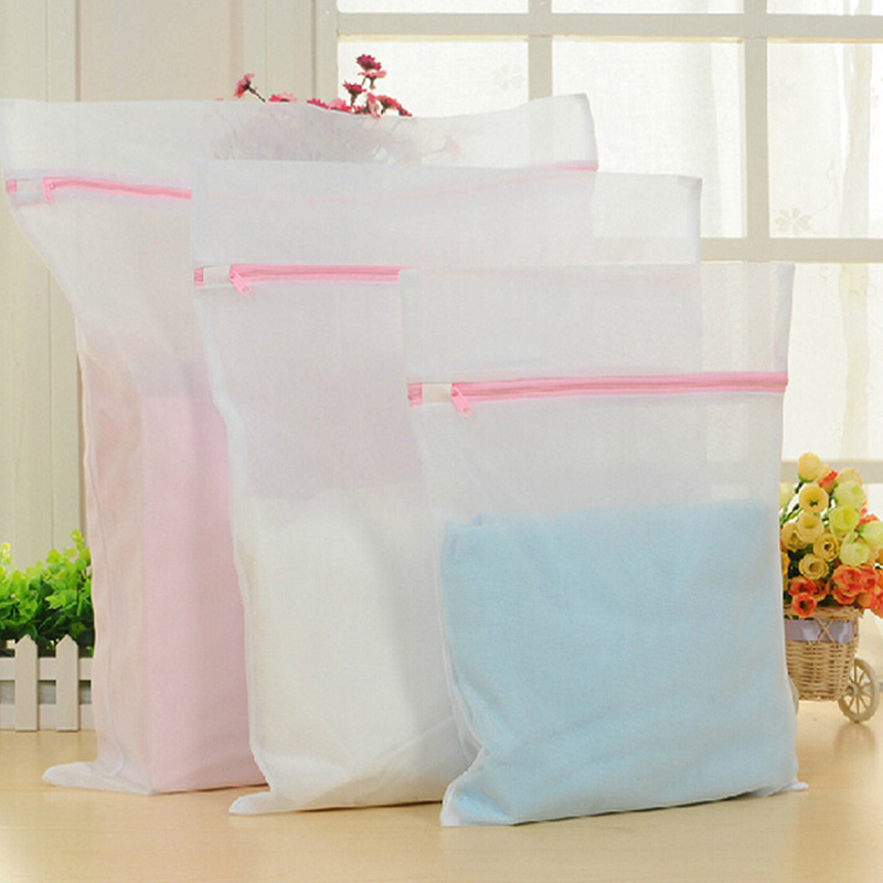 Zipped Underwear Clothes Aid Bra Socks Laundry Washing Machine Net Mesh Bag HOT