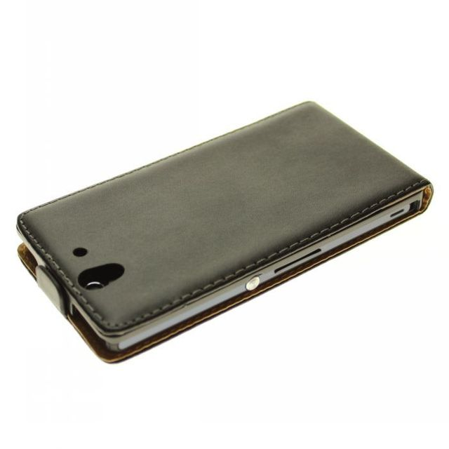 Luxury Genuine Real Leather Case Flip Cover Mobile Phone Accessories Bag Retro Vertical For Sony Xperia Z L36h c6603 PS