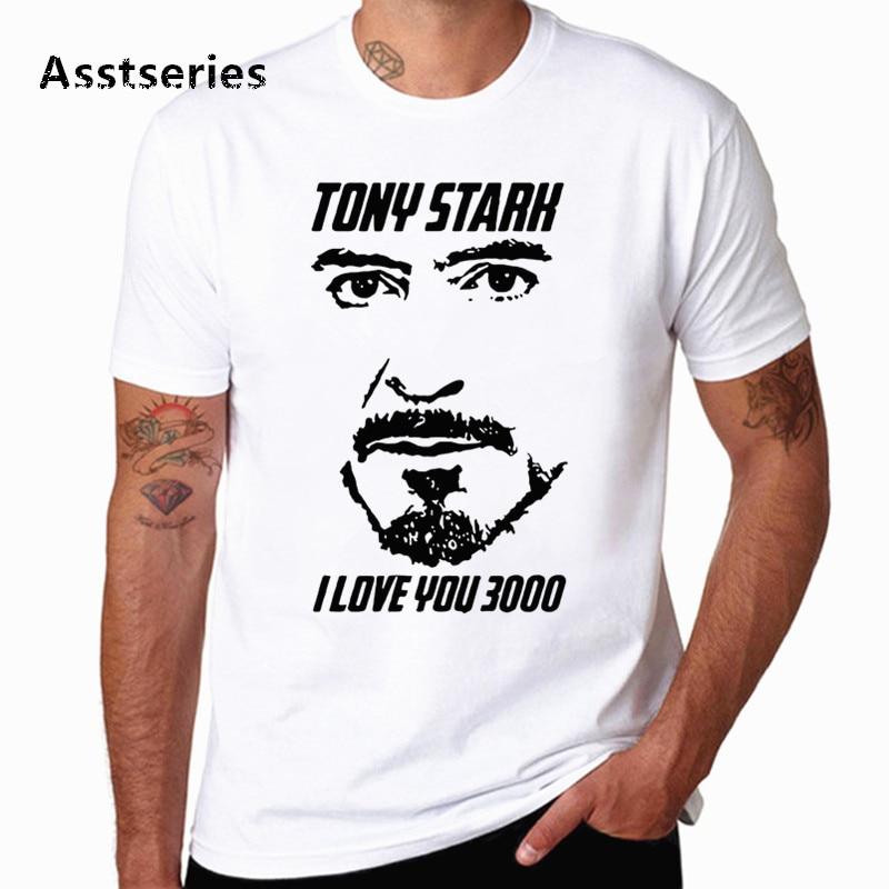 Men's TShirt Avengers Endgame Iron Man Stark I Love You 3000 Times   T  -  shirt   Iron Man Love U 3 Three Thousand   T     Shirt   HCP4574