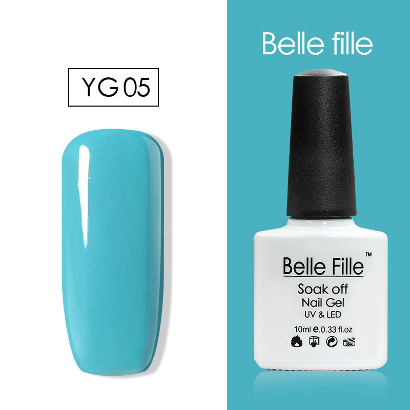 Belle Fille 10ml Neon Color UV LED Lamp Nail Gel Polish Gelpolish ...