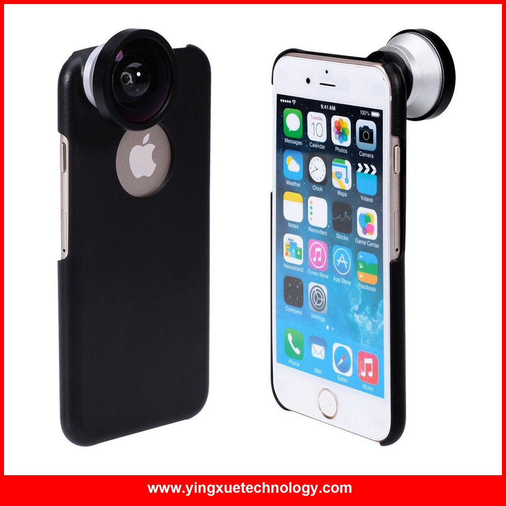 iboolo f40 0.4x super wide angle lens with back case for iphone 6/6s