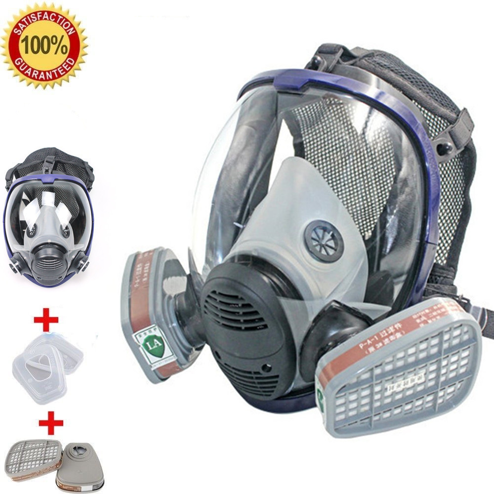 Full Face Respirator Gas Mask Breather Anti-dust Anti Organic Gas Safety Mask for Industry Painting Spraying Gas MaskFull Face Respirator Gas Mask Breather Anti-dust Anti Organic Gas Safety Mask for Industry Painting Spraying Gas Mask