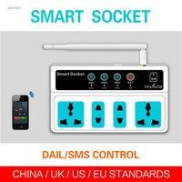 اللاسلكي الكهربائية و المقابس محولات pda gsm sim البعيد التحكم 3 مأخذ الطاقة مأخذ التبديل الذكية deyiou