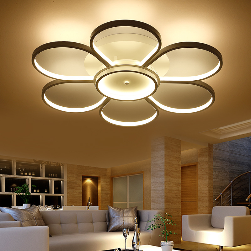 Surface mounted ceiling lights led light living room for Modern living room ceiling lights