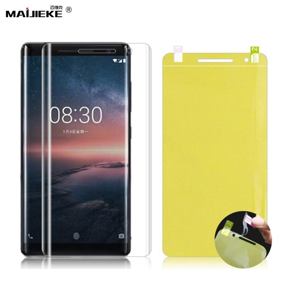 3D Full Cover Soft Hydrogel Film For <font><b>Nokia</b></font> 8 Sirocco 8.1 7.1 <font><b>6.1</b></font> 5.1 3.1 2.1 7 plus X71 <font><b>TPU</b></font> Front Screen protector Not Glass image