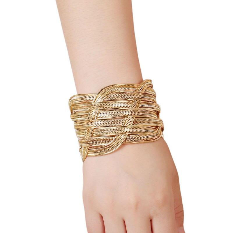 """""""Europenan"""" ir Amerikos mados aukso spalvos rankogalių - Mados papuošalai - Nuotrauka 3"""