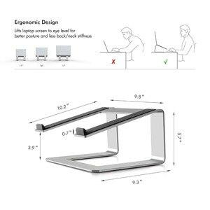 Image 5 - Support universel pour ordinateur portable et bureau dascenseur en aluminium pour ordinateur portable, support de refroidissement pour appliquer MacBook Pro Air 11 17 pouces