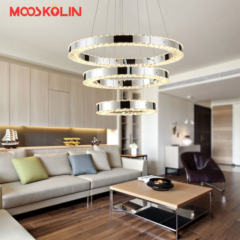 Nouveaux lustres en cristal modernes éclairage pour salon salle à manger chambre lampe d'intérieur K9 lustres de cristal teto plafond lustre