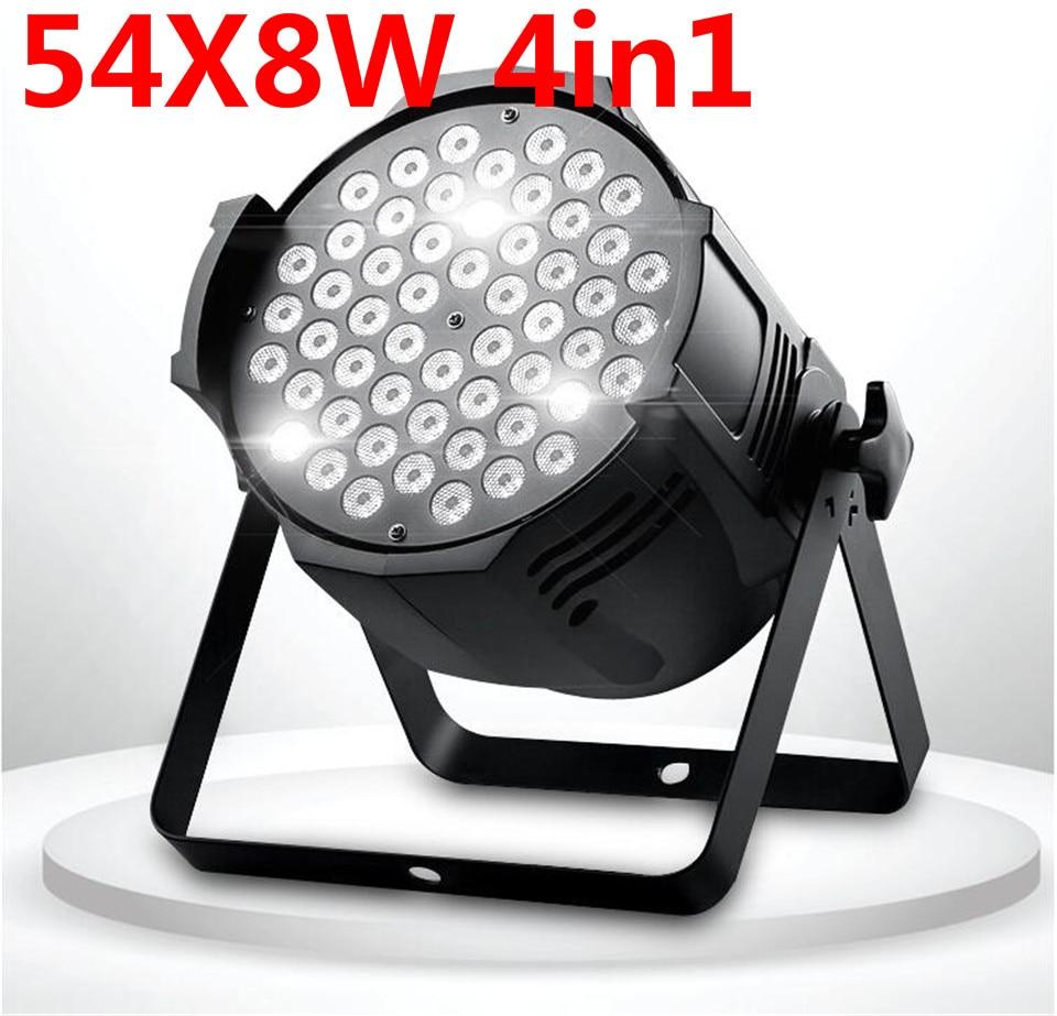 4 unids LED par 54x8 W RGBW 4in1 Quad LED Par Can dj Par64 spotlight proyector iluminacion de la etapa de lavado luz de luz