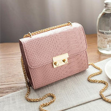Alligator Crocodile Leather Chain Crossbody Bag