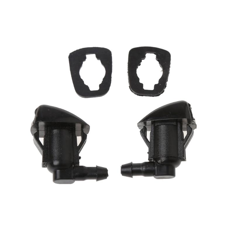 2Pcs Fan Shape Windshield Wiper Washer Jet Nozzle Spray Car Accessories For Toyota E120 Corolla Camry XV30