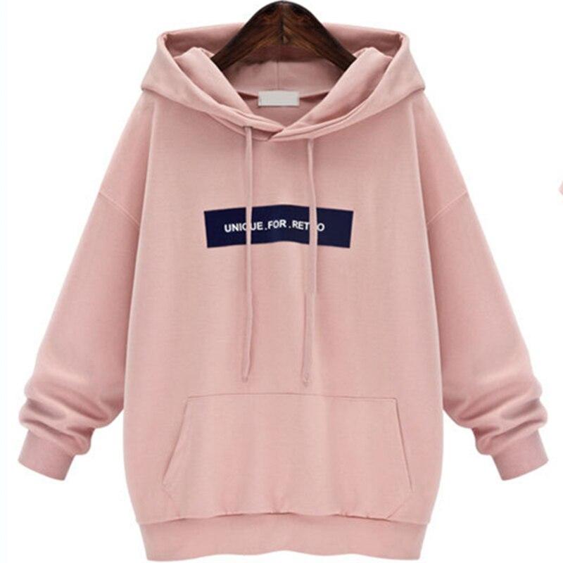 Sweatshirts Female Hoodie Pink & Gray Plus Size Sweatshirt Hoodies Women Long Sleeves Hoody For Women Thicken Hooded Sweatshirt como rasgar uma camiseta feminina