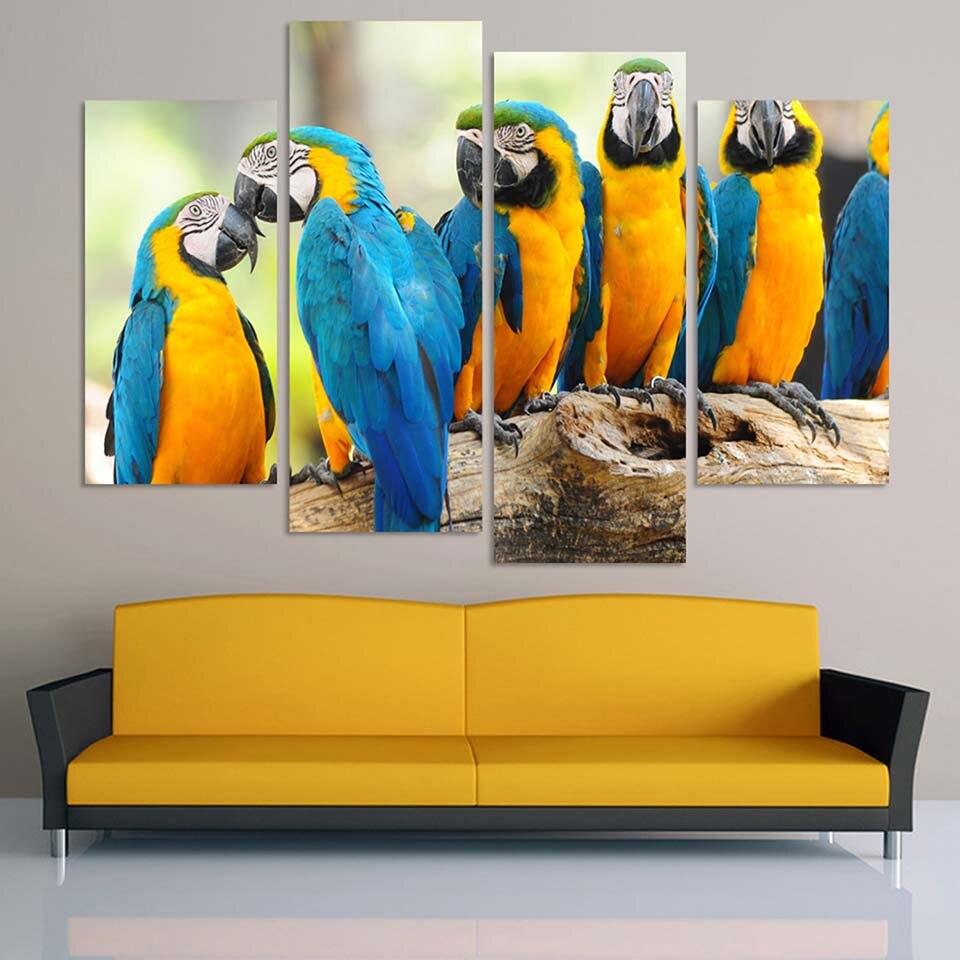 Wall Art Canvas Prints Pictures Home Decor Framework 4 Pieces ...