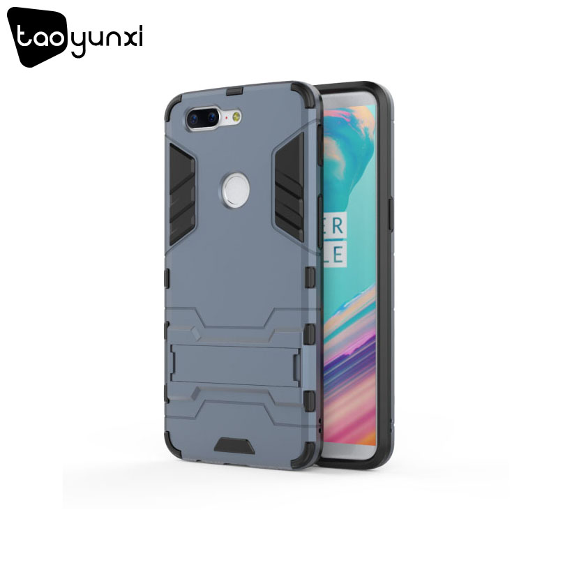 TAOYUNXI Army Hybrid Case For OnePlus 5T Cases Silicone Kickstand Heavy Duty Protection For One plus 5t Oneplus 5 t Covers Coque