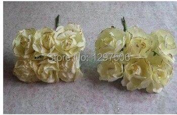 3 CM hecho a mano barata artificial de papel de morera mini ramo de rosas accesorios de scrapbooking artesanales diy y decoración para el pelo de guirnalda