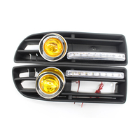 GRILLE Grill Halogen FOG LIGHT Lamp Fit FOR VW JETTA BORA 99 04 LED DRL Yellow Lens Quality