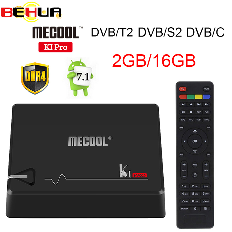 KI PRO 2GB/16GB DVB-T2 DVB-S2 DVB-C Android 7.1 TV Box Amlogic S905D Dual WIFI HD Satellite Receiver+1 Year Europe clines Server de it es channels dvb s s2 satellite fta lines 1 year cccam clines newcamd usb wifi satellite tv receiver for free shipping