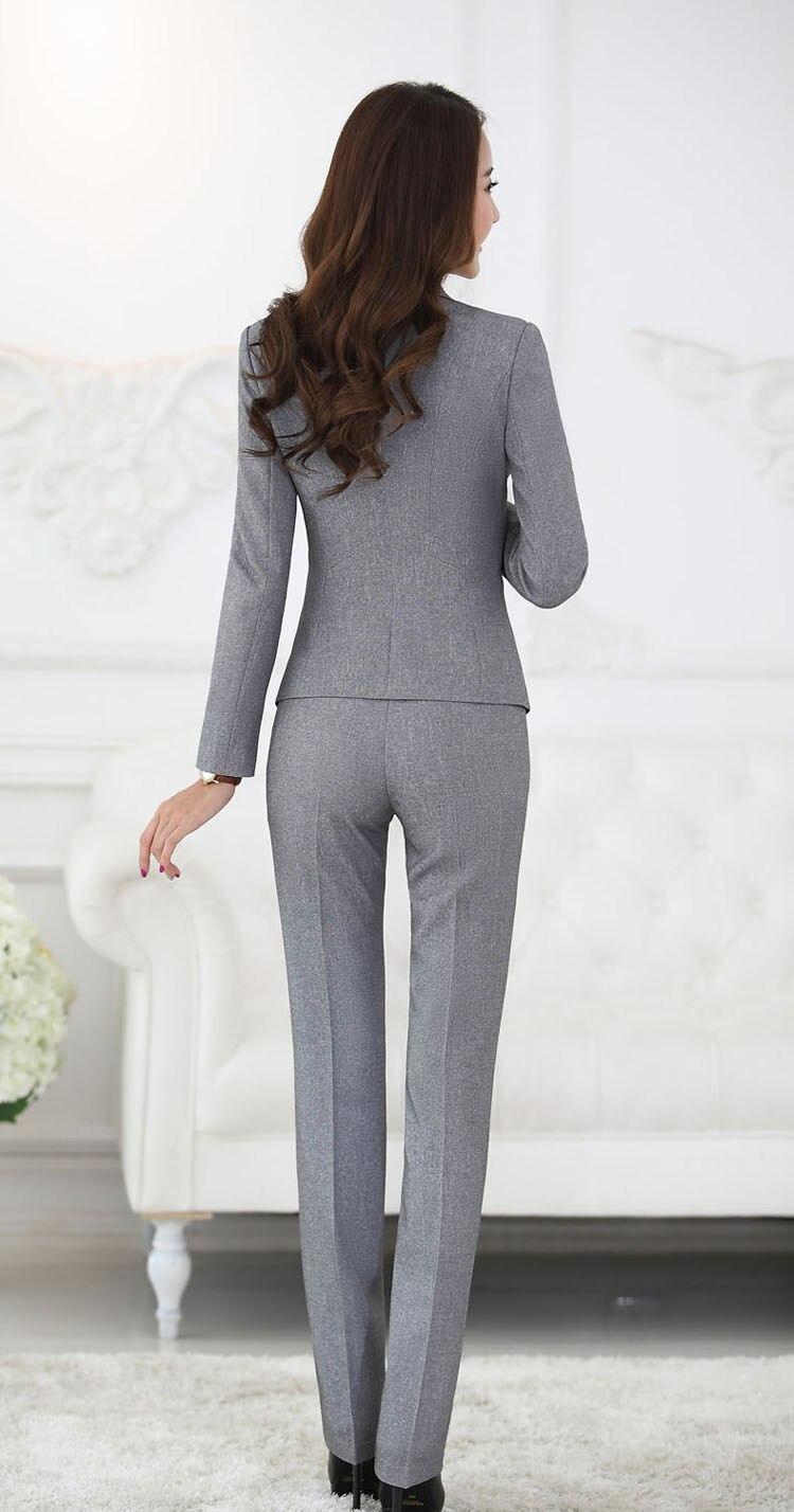 Կանացի Plus չափի շալվար կոստյում Սև - Կանացի հագուստ - Լուսանկար 4