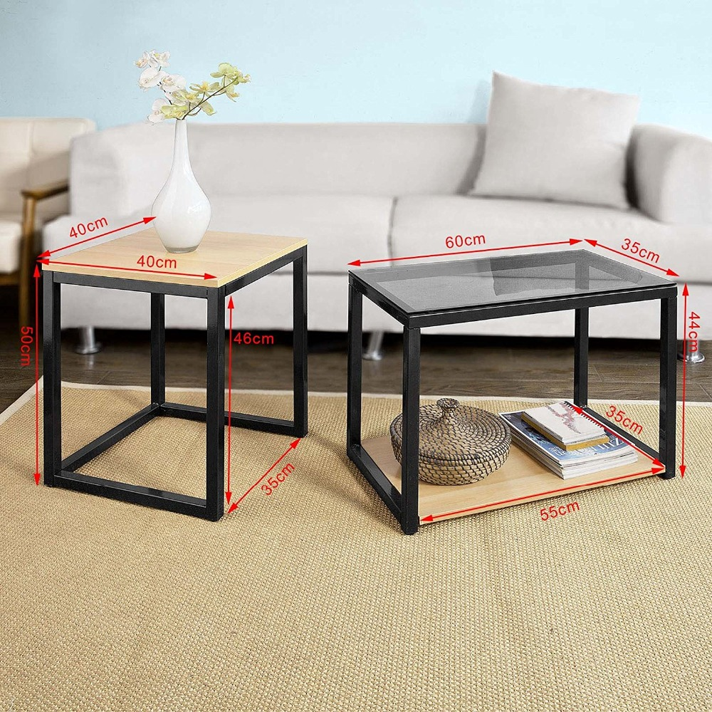 Modern Nesting 2 Set Coffee Table  3