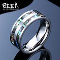 2016 New  Men's Royal Silver Color Stainless Steel Men's High Quality Ring BR-R026