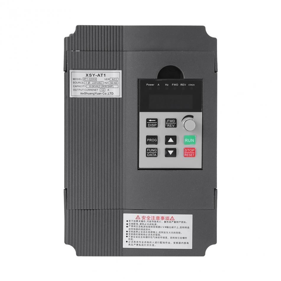 Variable Frequency Drive 2.2KW 12A 3HP Single Phase Variable Frequency Inverter Speed Control Drive Inverter VSD VFD PWM Control baileigh wl 1840vs heavy duty variable speed wood turning lathe single phase 220v 0 to 3200 rpm inverter driven