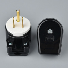 цена на 125V 15A UL Certification 3 Pin US AC Power Wire Industrial Plug Pure Copper American Industry Socket Adapter 2Pcs