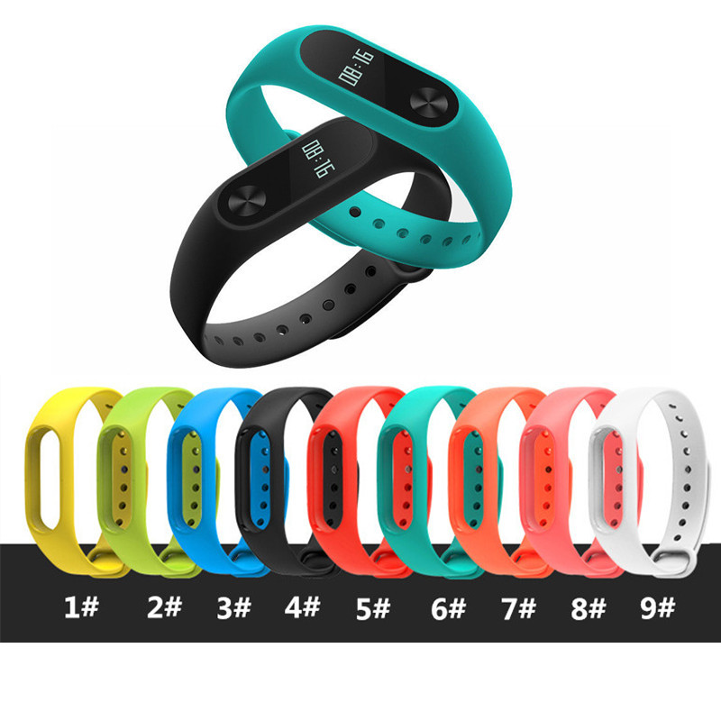Colorful Silicone Wrist Strap For Xiaomi Mi Band 2 Replacement Wristband Bracelet For Xiaomi Watchbands Accessories javrick silicone wristband bracelet band replacement for garmin vivoactive acetate watch sports watch watchbands accessories