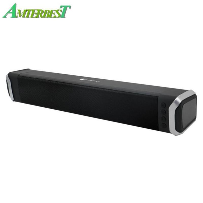 AMTERBEST Super basse 10 W Bluetooth haut-parleur FM Radio Portable sans fil ordinateur haut-parleur Support USB TF carte haut-parleur