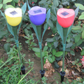 Красивая 600 мАч Открытый Сад Путь Путь Солнечной Энергии СВЕТОДИОДНЫЙ Tulip Форма Пейзаж Цветок СВЕТОДИОДНЫЕ Лампы Night Lights