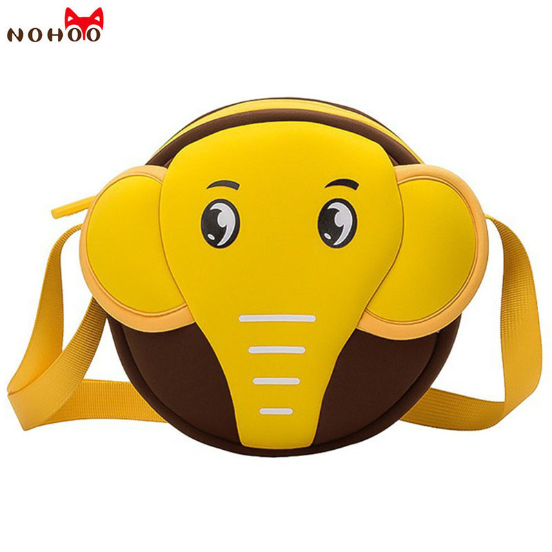 NOHOO Toddler Waterproof Crossbody Bags 3D Elephant Kids Baby Bags For  Girls Boys Cute Cartoon Shoulderbag For 2-5 Year Old