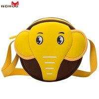 NOHOO Animals Waterproof Crossbody Bags 3D Elephant Kids Baby Bags For Girls Boys Cute Cartoon Shoulderbag