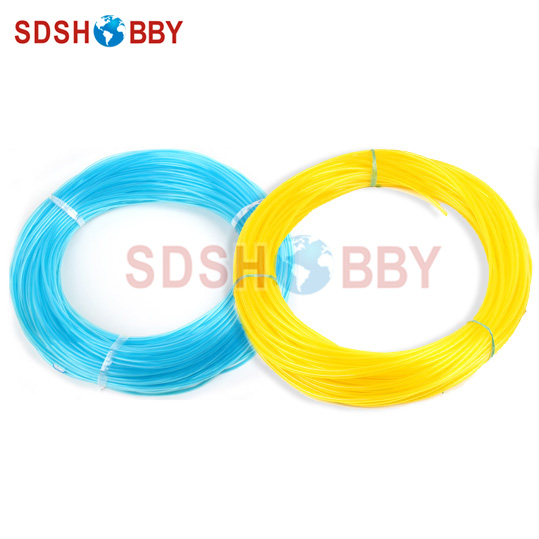 4.5*3mm 200 Meters Softer Fuel Line/ Fuel Pipe for Gasoline /Petrol Engine-Yellow/ Blue Color 6617 fuel gas line pipe hose for poulan craftsman weedeater 530069216 trimmer chainsaw blower yellow fuel line 2 5mm x 10m