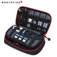 WORTHFIND New Travel Bags Data Cable Practical Earphone Wire Storage Bag Power Line Organizer Electric Bag