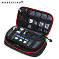 WORTHFIND New Travel Bags Data Cable Practical Earphone Wire Storage Bag Power Line Organizer Electric Bag Flash Disk Case