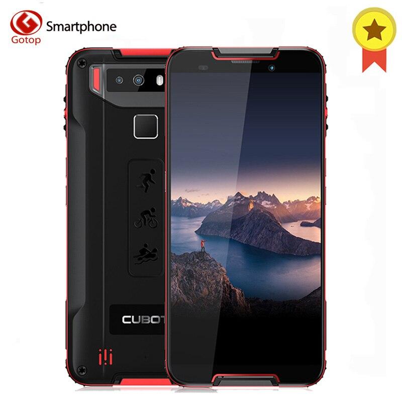 Cubot Quest Android 9.0 4GB 64GB MT6762 octa-core Support magnétique NFC Smartphone 5.5 ''HD + IP68 étanche à la poussière celulaire
