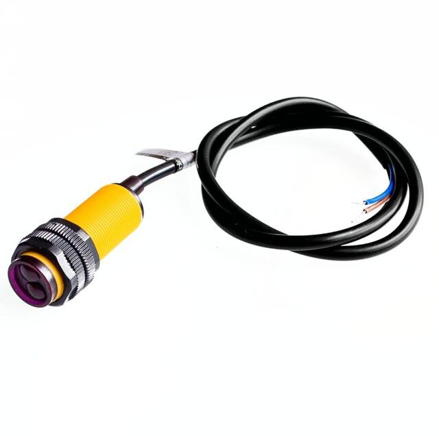 Smart car robot E18-D80NK infrared obstacle avoidance sensor proximity switch 3-80cm adjustable