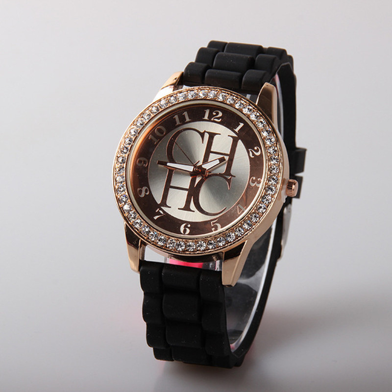 Women's watches New Luxury Brand Silicone Jelly Quartz watch Women Rhinestone Dress wristwatches Ladies Clock montres femmes women watches original miler brand soft silicone strap jelly quartz watch women ladies lovers wristwatches montres femmes