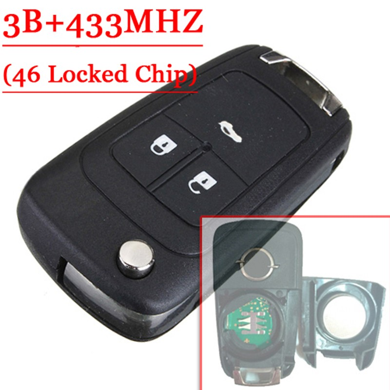 Genuine Remote For Opel 3 Button Flip Remote Key 434MHZ Valeo 46 Locked