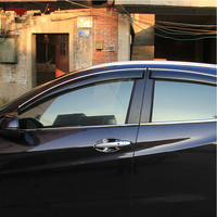 High Quality 4 Pcs Set MARCH Wind Rain Sun Guards Visor Vent Awnings Shelters For Toyota