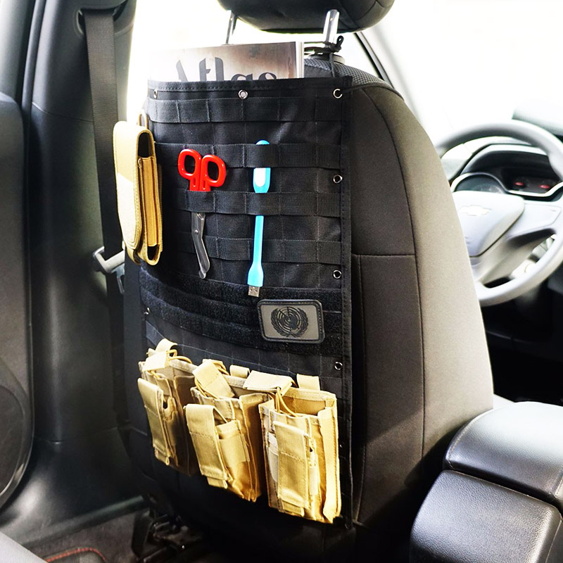 1000D Nylon Molle Car Seat Organizer Tactical Back Bag Cover Protector For All Cars Auto Holder Pockets Accessories In Outdoor Tools From Sports