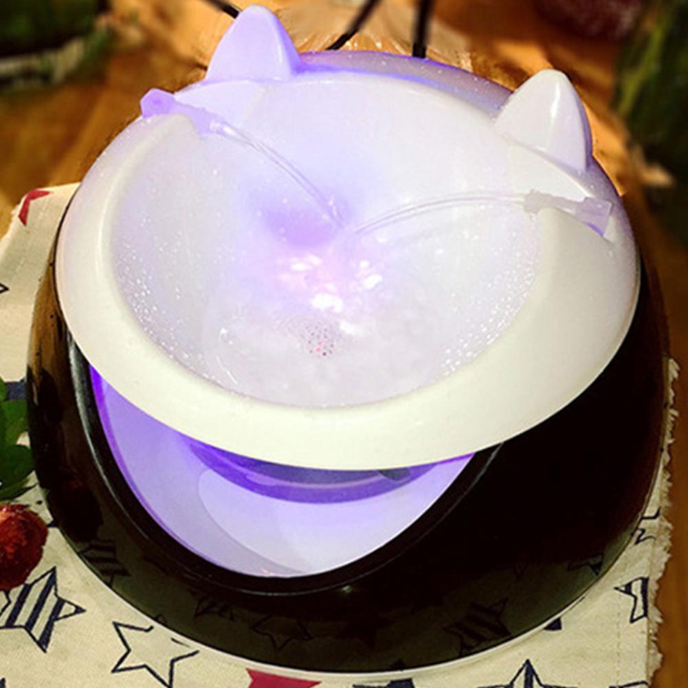 LumiParty automático luminoso fuente de agua dispensador de agua eléctrico para gato perro-40