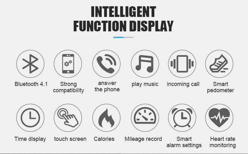 Bluetooth Y3 Headset Talk Smart band Bracelet heart rate monitor Sports Smart Watch Band Passometer Fitness Tracker Wristband (3)