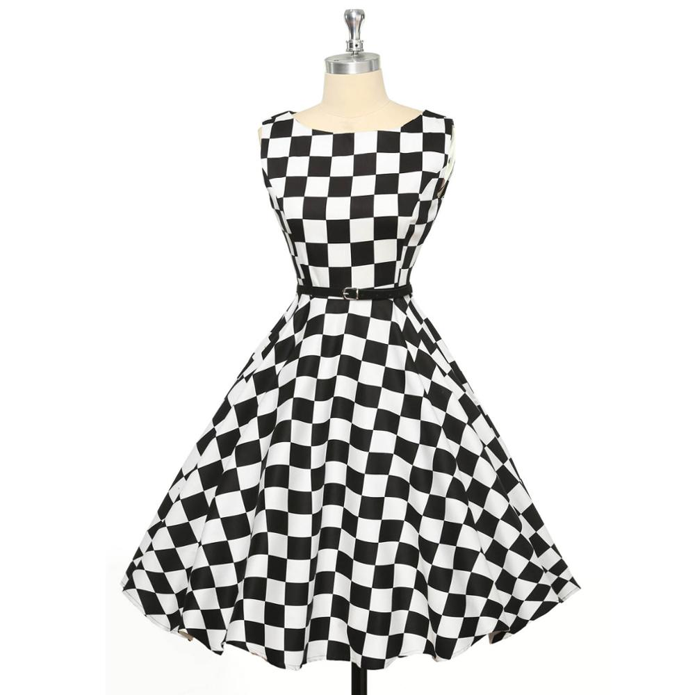 0710723007 US $21.7 42% OFF|Audrey Hepburn Vestidos 50s Party Swing Dresses Women  Summer Plus Size Sexy Retro Vintage Dress Pinup Rockabilly Womens  Clothing-in ...