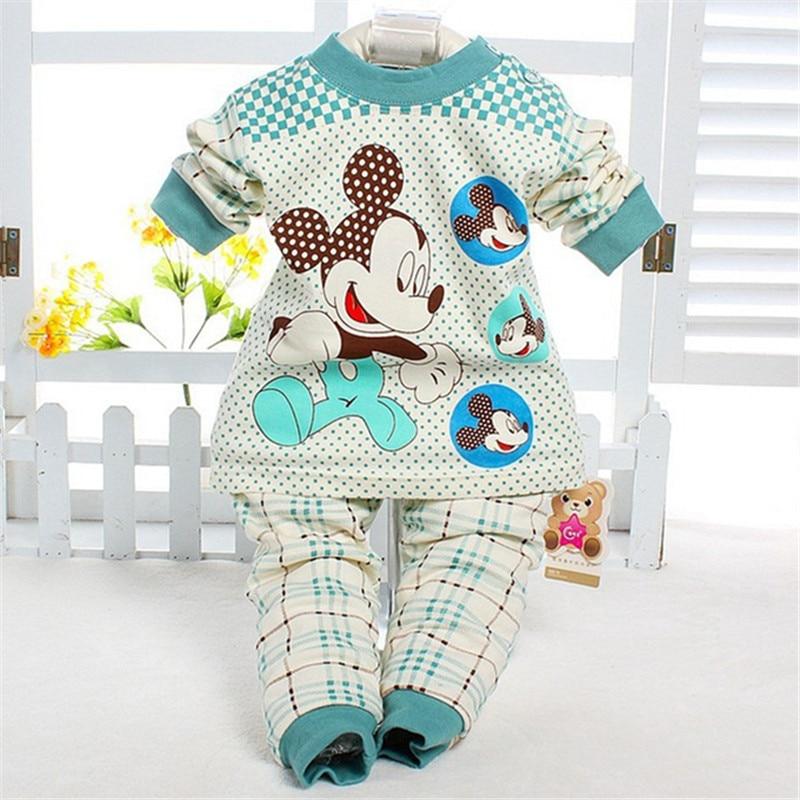 2016 New Fashion Baby Girl Boy Clothes Ropa De Bebe Cartoon Long sleeve Autumn / Winter Baby Clothing Sets Free shipping