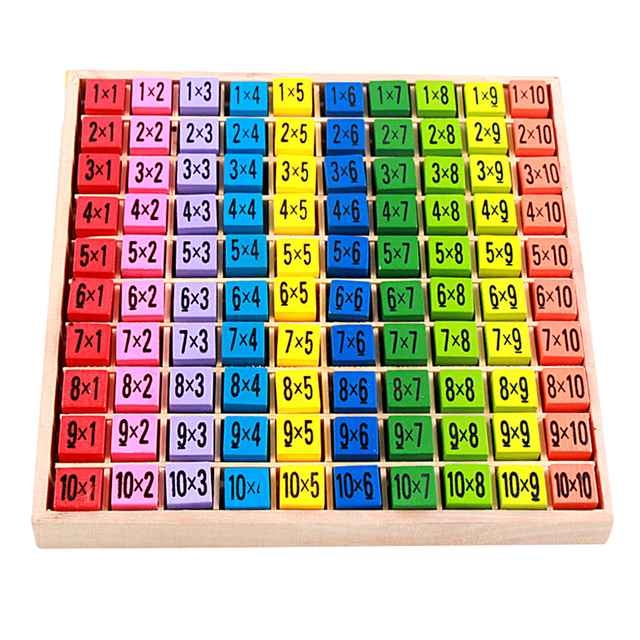 Montessori educational wooden toys for children baby toys for Multiplication table to 99